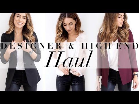 DESIGNER & HIGH END HAUL | GUCCI, AQUAZZURA, JOSEPH, CLUB MONACO | Lydia Elise Millen