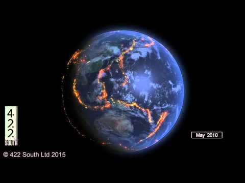 World Earthquakes 2000 2015 Data Visualization