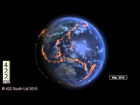 World Earthquakes 2000 2015 Data Visualization