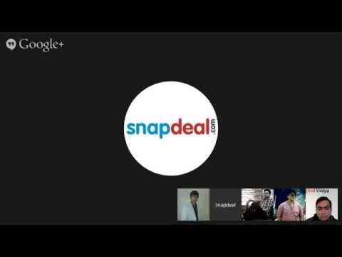 Google Hangout session onEntrepreneurship: Starting an Online Business in 2015 by Mr.Kapil Nakra