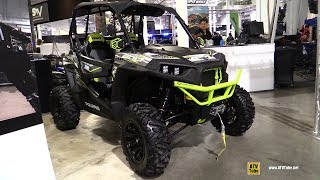 10. 2017 Polaris RZR S 900 Lime Squeez'R RZR by ATVWorld - Walkaround - 2017 Toronto Snowmobile ATV Show