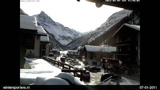 Val d'Anniviers Zinal webcam time lapse 2010-2011