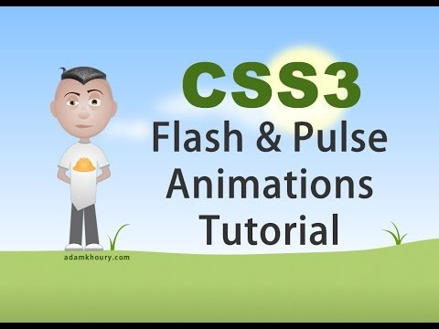 CSS3 Flash and Pulse Effects Animation Tutorial