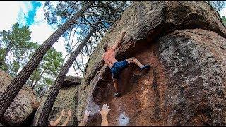 Scary 7B+ Boulder...Don't Break Your Legs! by Matt Groom
