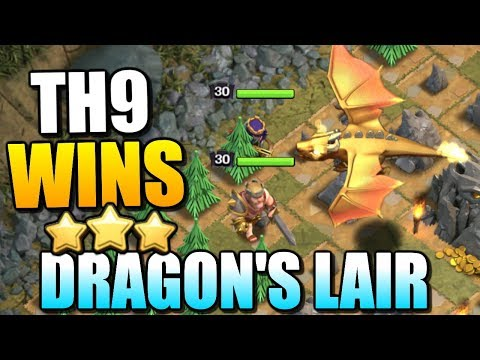 "TH9 DRAGON'S LAIR STRATEGY!! ""Clash Of Clans"" - Best Dragons Lair Attack Strategy - CoC Update!"