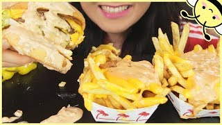 ASMR IN-N-OUT BURGER ANIMAL STYLE DOUBLE DOUBLE + FRIES l Eating Sounds l No Talking