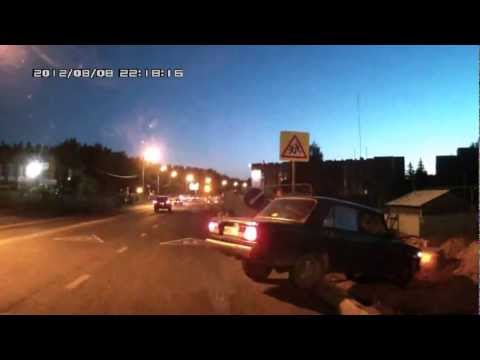Dash cam captures hit and run driver being chased