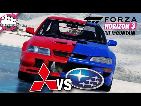 BLIZZARD MOUNTAIN - MITSUBISHI vs SUBARU - MULTIPLAYER - Let's Play Forza Horizon 3 (видео)
