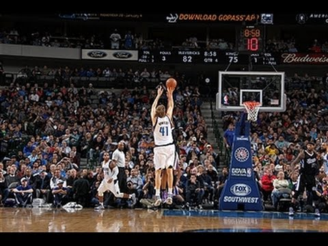 VIDEO – Dirk Nowitzki passes Hakeem as the #9 all-time NBA scorer