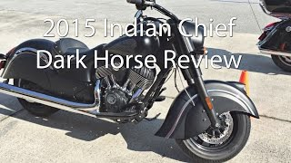7. 2015 Indian Chief Dark Horse Motorcycle Review