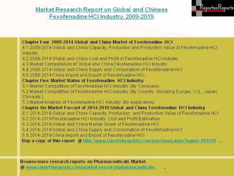 Global and Chinese Fexofenadine HCl Industry Forecast to 2019