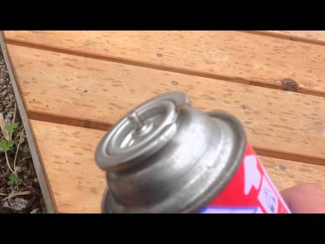 カセットボンベガス漏れ