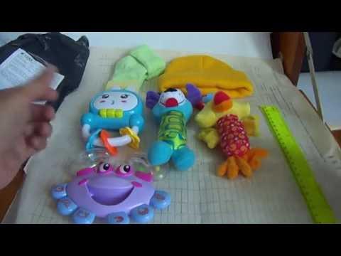 погремушки, носочки и шапочка с Алиэкспресс видео