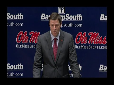 Ole Miss holds press conference after firing head coach
