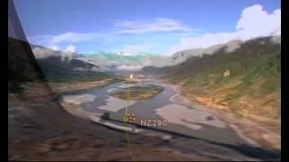 Linzhi China  city photo : Flying RNP into Linzhi Tibet aboard an Air China B757