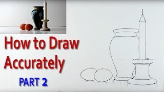 In this art tutorial, I explain how to draw a still life accurately in a step by step process. I start by explaining how to hold a pencil at arms length and using it to measure height, width and angles of objects. By selecting the highest object and linking it with others I explain how to sketch out a basic shape which will act as a grid on which to  measure all the other objects. Once the height, width and position of each object has been worked out it is then possible to draw out the objects, using the grid. In this still life I am using a candlestick, vase and two eggs. The video is intended for beginners and children and students preparing for art examinations in schools.Check out : http://www.art-tutorialsonline.comhttp://paulpriestley.comyoutube.com/paulpriestleyarthttp://www.dailymotion.com/art-tutorialsonline