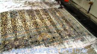 Process Of Cleaning Hand-made (persian) Carpet   At Amin Carpets