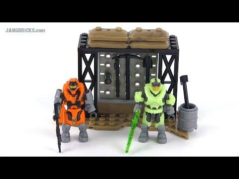 Mega Bloks Halo 97516 Containment Armory set Review!