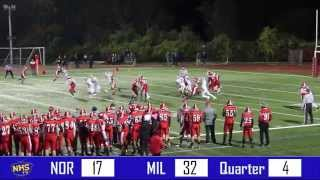 Norwood vs. Milton: Playoffs Football Highlight