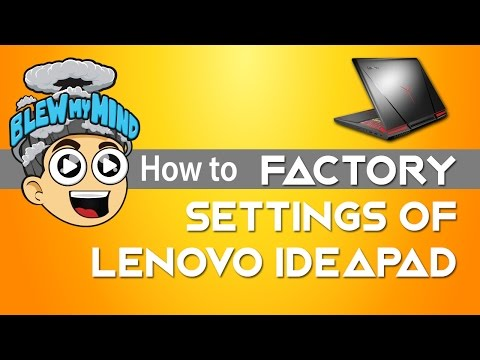 , title : 'Lenovo Ideapad - restoring system to factory settings - OKR'