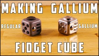 Making a gallium copy of a fidget cube.I will explain the different steps in this description.Giveaway 25 euro : http://bit.ly/25EuroGiveAwayAlso check my second channel which will soon contain videos of my private life : https://www.youtube.com/channel/UC1fmaoXCOCMY_7tD-tkqE2A0:36 : Using the Play Doh as a sealant to prevent the silicone leaking out of the tubing.0:45 : Fidget Cube with an empty bullet casing attached to it to have a 'support' for the cube and also an opening to inject the gallium afterwards0:53 : Installing the transparent tubing whic will hold the transparent silicone1:13 : Pouring the silicone in the cup1:22 : Adding 10% hardener to the silicone1:41 : Using my vacuumchamber to remove all the air from the silicone for the best result.2:11 : Pouring the silicone in the tubing2:30 : 24 hours later the silicone has hardened and the mold is ready to be cut open to remove the fidget cube.3:15 : Removing the fidget cube from the silicone mold3:38 : Pouring the liquid Gallium in a cup4:06 : Sucking up the gallium with the syringe4:23 Injecting the Gallium in the mold4:43 : 6 hours later the Gallium has hardened and ready to be removed from the mold.5:34 : I'm doing some 'blablabla' and also explaining how to win 25 euro in this giveaway.I hope you enjoyed this video, and if you have ideas what to do next please let me know in the comments.Please do not try this at home, and if you do so be very carefull with the sharp tools to cut open the mold.E-mail : presstube@telenet.be