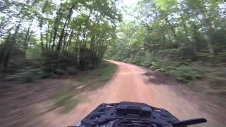 7. Riding fire roads on Can-Am Outlander Max 650XT