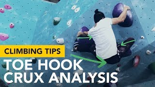 Climbing tips for beginners: How I managed to stick a toe hook move In this climb by  rockentry