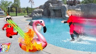 Video INCREDIBLES 2 Family In Real Life Walking On Water Challenge! 💥 (AMAZING!) MP3, 3GP, MP4, WEBM, AVI, FLV Agustus 2018