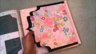Pink Family History 12x12 Semi Interactive Scrapbook Album