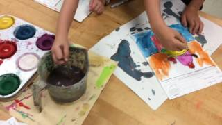 K and 1st grade Cupcake Paintings