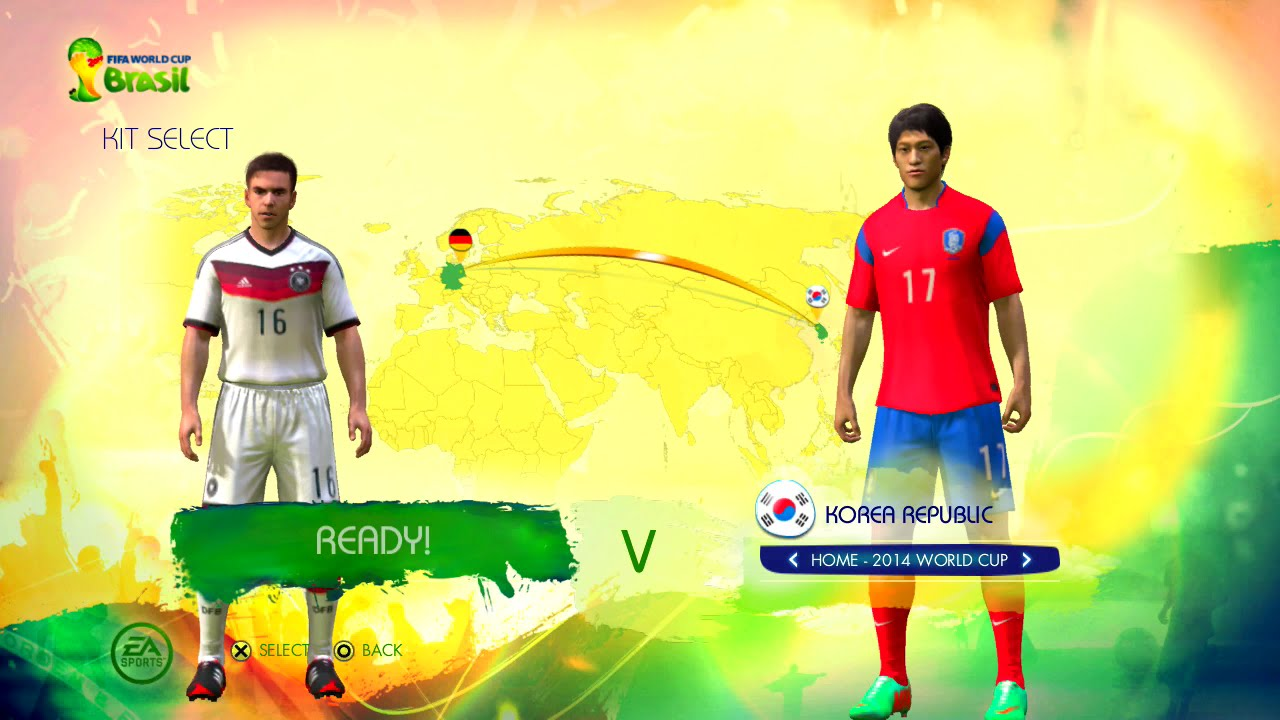 Germany vs Korea Republic Group C Game Pretend Olympic Games Using 2014 FIFA World Cup Brazil