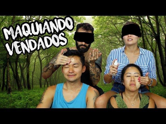 DESAFIO #BIRDBOX - MAQUIAMOS nossos AMIGOS VENDADOS - Joyce Kitamura