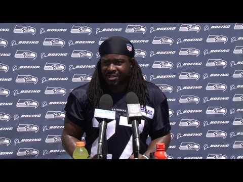 Seahawks Running Back Eddie Lacy OTAs Press Conference (видео)