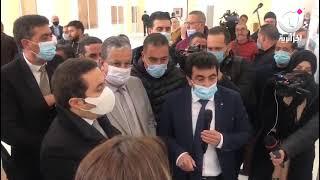 سيد علي خالدي رفقة سليمة سواكري في زيارة تفقدية لمشاريع القطاع بولاية تيبازة