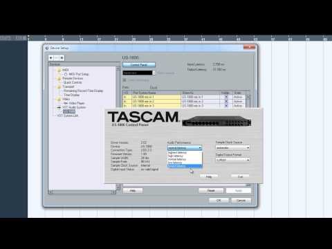 Tutorial – How to Setup a Project in Cubase 5 with a Tascam US-1800 Interface