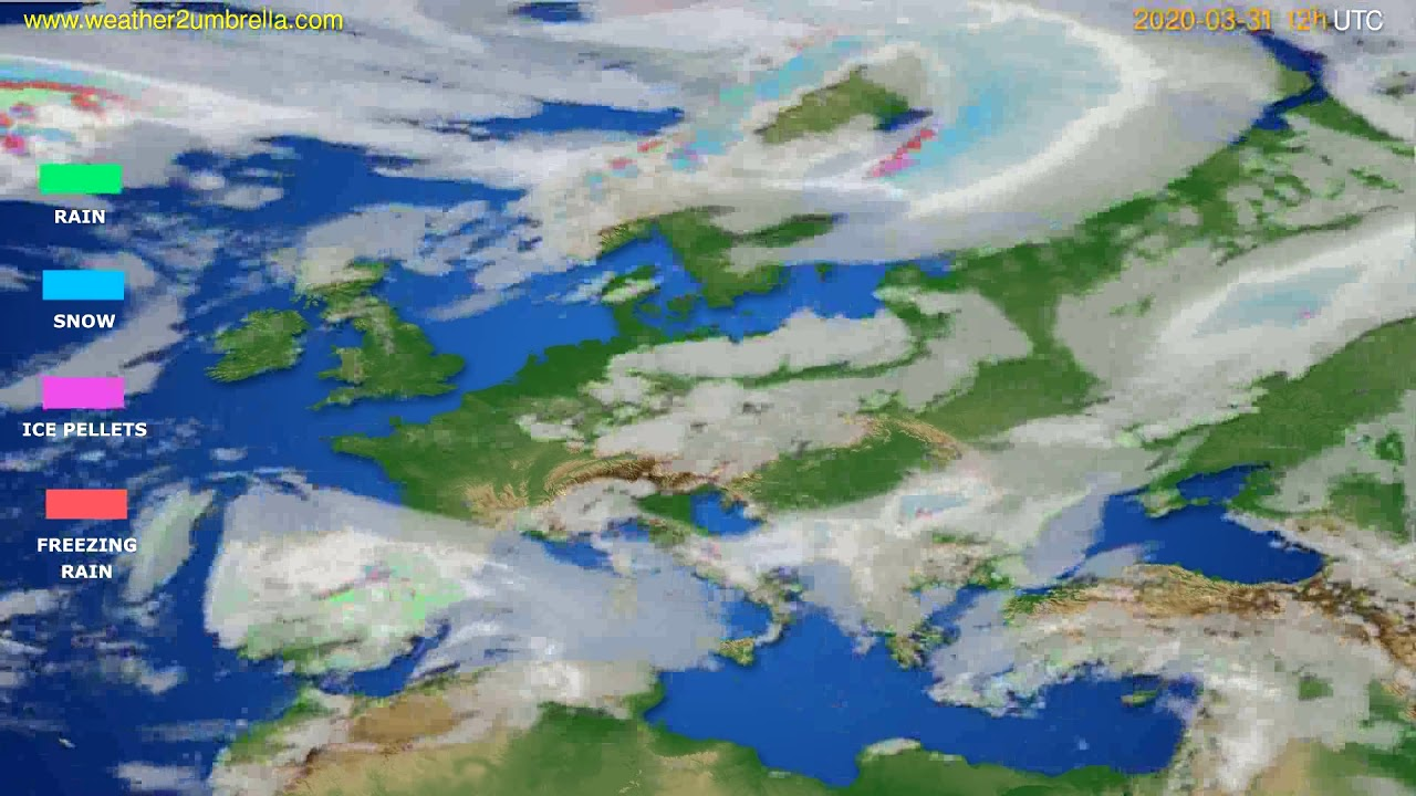 Precipitation forecast Europe // modelrun: 00h UTC 2020-03-31