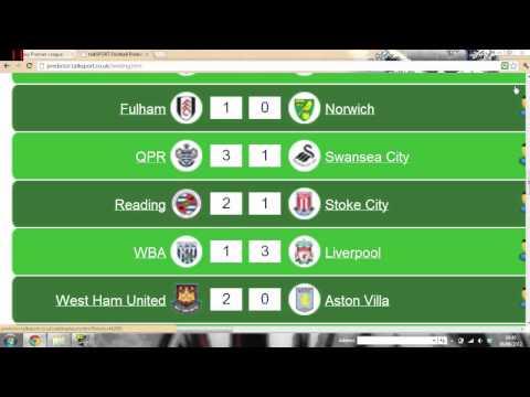 Premier League Predictor..... #1
