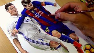 Video Drawing Ronaldo vs Messi MP3, 3GP, MP4, WEBM, AVI, FLV Juni 2018