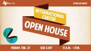 UT Dallas International Center Open House Digital Signage