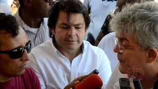 Ricardo Coutinho assina ordem de serviço e convenios em Sousa