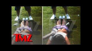Playboy Babe Liz Dickson -- Ass Cheek Golf Swing VIDEO ... You Gotta See This Bruise | TMZ
