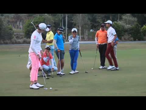 [Australian Golf Schools _ ANK GOLF] Girls vs Boys putting comp