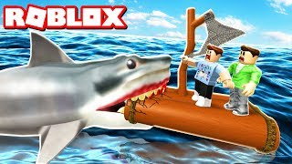 """In today's Roblox Adventure, Corl and Alex try to build a wooden raft and survive the huge evil Jaws shark attacking them!► Subscribe for more! -- http://bit.ly/ThePalsSubscribe► Follow us on Twitter! -- https://twitter.com/SubZeroExtabyteJoin us in our Roblox Adventures as we play through various Roblox Gamemodes from Roblox High School, Roblox Apocalypse, Roblox Prison, Roblox Dating and more! Make sure to subscribe for me Roblox Adventures!▶ MORE VIDEOS!Roblox Adventures -- http://bit.ly/ThePalsAdventuresBest of The Pals -- http://bit.ly/BestOfThePalsMost Recent -- http://bit.ly/PalsMostRecent▶ CHECK OUT THE PALS!Denis -- http://youtube.com/denisdailyCorl -- http://youtube.com/corlAlex -- http://youtube.com/alexcraftedSketch -- http://youtube.com/SketchRobloxMoreSub -- http://youtube.com/SubRobloxMoreWhat is ROBLOX? ROBLOX is an online virtual playground and workshop, where kids of all ages can safely interact, create, have fun, and learn. It's unique in that practically everything on ROBLOX is designed and constructed by members of the community. ROBLOX is designed for 8 to 18 year olds, but it is open to people of all ages. Each player starts by choosing an avatar and giving it an identity. They can then explore ROBLOX — interacting with others by chatting, playing games, or collaborating on creative projects. Each player is also given their own piece of undeveloped real estate along with a virtual toolbox with which to design and build anything — be it a navigable skyscraper, a working helicopter, a giant pinball machine, a multiplayer """"Capture the Flag"""" game or some other, yet-to-be-dreamed-up creation. There is no cost for this first plot of virtual land. By participating and by building cool stuff, ROBLOX members can earn specialty badges as well as ROBLOX dollars (""""ROBUX""""). In turn, they can shop the online catalog to purchase avatar clothing and accessories as well as premium building materials, interactive components, and working mechanisms.► Music Credi"""