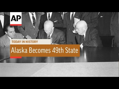 Alaska Becomes 49th State - 1959   Today in History   3 Jan 17