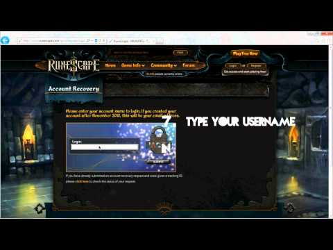 how to recover runescape password without email