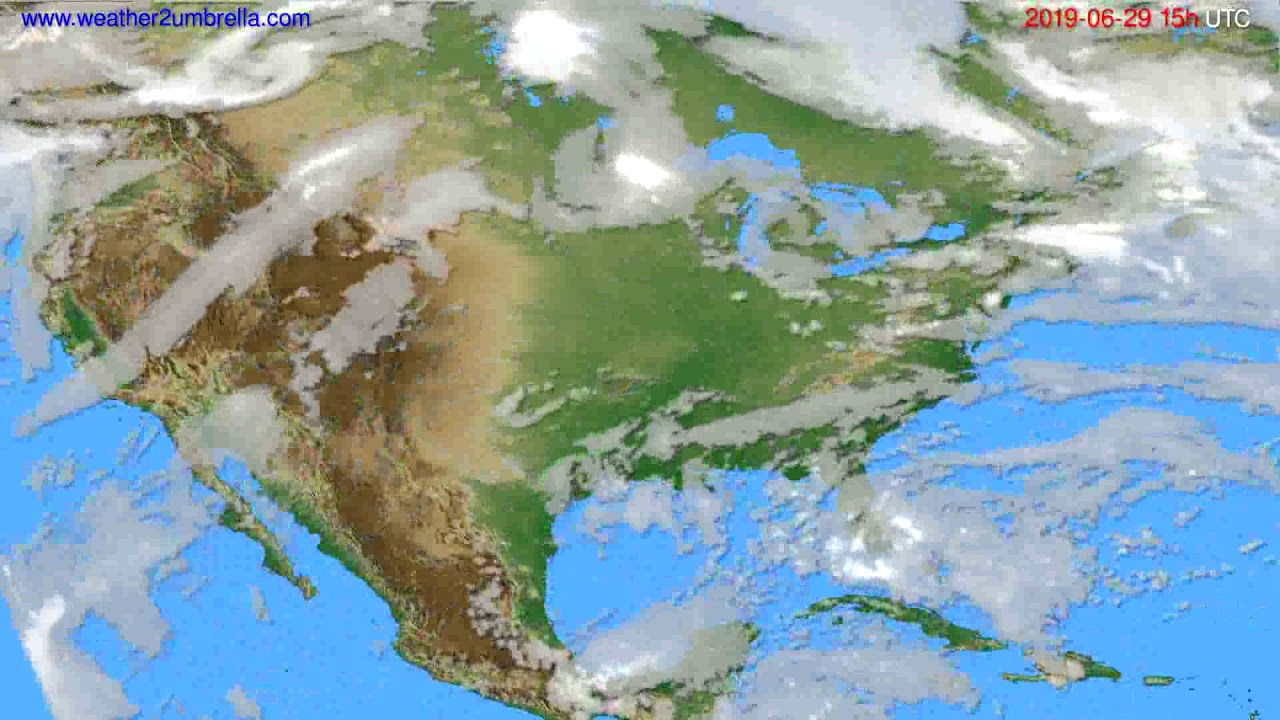 Cloud forecast USA & Canada // modelrun: 12h UTC 2019-06-26