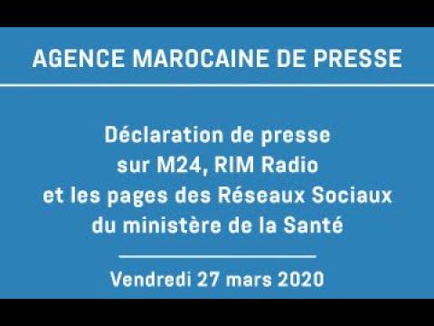 Déclaration de presse au siège du ministère de la santé – 27 mars