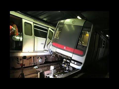 Σύγκρουση τρένων στο Χονγκ Κονγκ