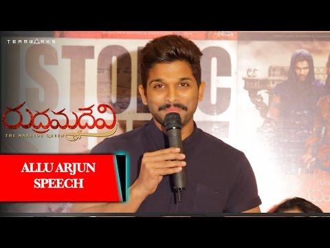 Rudhramadevi Succes Meet Video, Allu Arjun Speaking