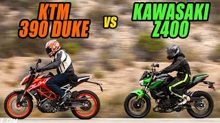 2. Lightweight Rippers: 2019 KTM 390 Duke vs. 2019 Kawasaki Z400